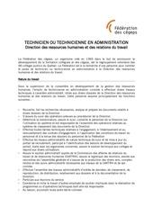 affichage technicien administration drhrt avril 2012