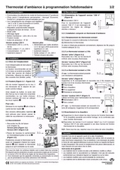 4 notice thermostat programmation hebdomadaire