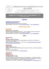 agenda de la semaine en pays bellemois n 119