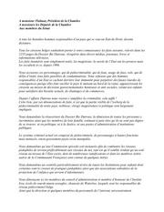lettre aux deputes et membres du senat belge avril 2012
