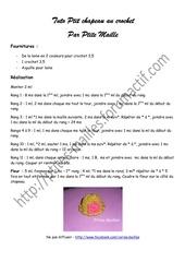Fichier PDF tuto ptit bonnet au crochet