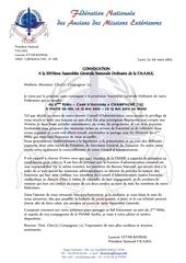 convocation a la 26eme assemblee generale ordinaire de la fname bulletin