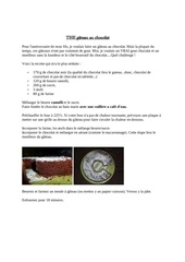 Fichier PDF the gateau au chocolat