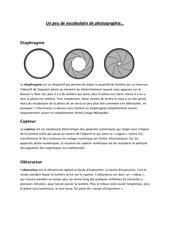 Fichier PDF un peu de vocabulaire de photographie