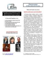 Fichier PDF programme upim