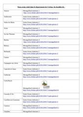 z 2 nous avons ordre alphabetique visite dans le departement de l ariege les localites de