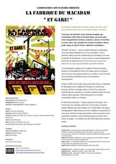 communique de presse fabrique du macadam et gare 1