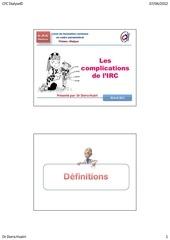 cours 6 cfc dialyse complications de l irc s