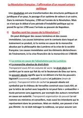 cours revolution francaise
