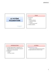 systeme tegumentaire anatomie