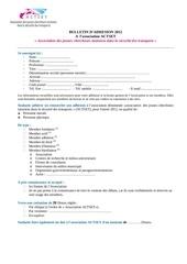 bulletin d adhesion 2012 actset