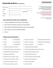 formulaire de demande de devis formation