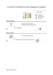 la norme nf c 15 100 dans les couloirs degagement et rangement