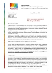 lettre aux candidats a la presidence 2012 agapsy