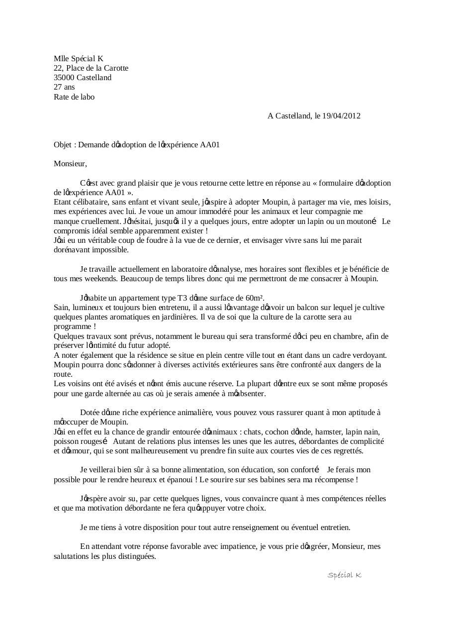lettre de motivation moupin  lettre de motivation moupin