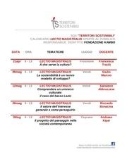 calendario lectio