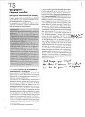 Fichier PDF cours geographie un espace mondialise complements de programme plan detaille semaine voyage allemagne