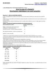 l1 seg probabilitEs et statistiques descriptives stat i serie corrigee n 1 distribution statistique a un seul caractere