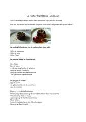 Fichier PDF le rocher framboise chocolat