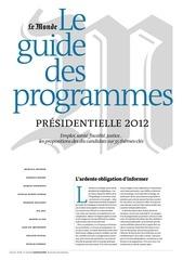 2012 04 apercu programme candidats