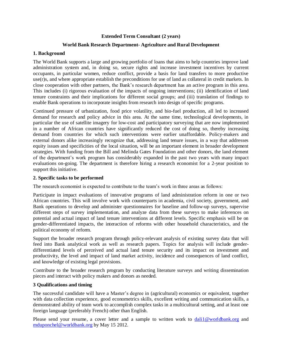 Aperçu du document Worldbank extended term consultant-21.4.12.pdf - page 1/1