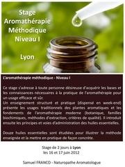aromatherapie stage gp niveau i 2j lyon a4v florence