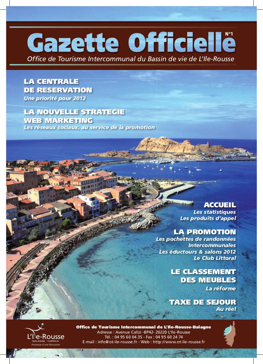 Gazette officielle de L'Office de Tourisme Intercommunal L'Ile-Rousse n°1.pdf - page 1/8