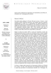 2012 04 17 lettre ouverte labbe fauconnier ministre agriculture cruiser