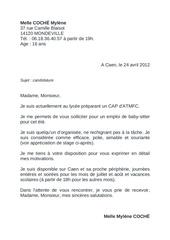 Lettre De Motivation Melle Coché Mylène Par Documentation
