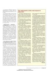 Fichier PDF des medicaments a eviter mais toujours la debut 2012