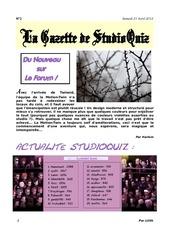 Fichier PDF la gazette de sq