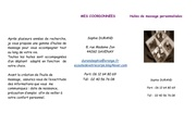 Fichier PDF brochure huile de massage personnalisees