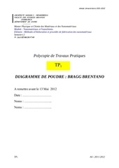 tp1 methode bragg brentano