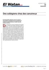 www elwatan com des collegiens chez des cancereux