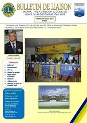 1er bulletin lions club cotonou l eau vive