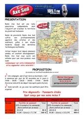 radio axe sud proposition2011
