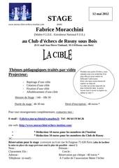stage f moracchini rosny l a cible 12 mai 2012