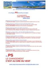 Fichier PDF au ps le changement c est au gre du