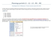 plannings partiels l1 l2 l3 m1 m2 psycho 2011 2012