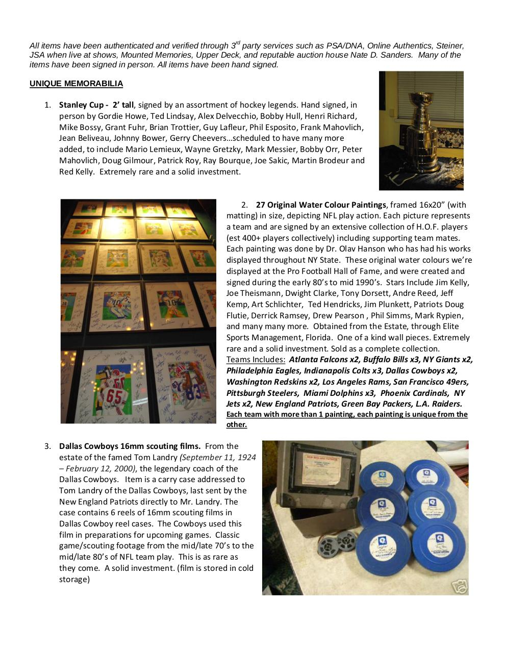 Current Memorabilia for sale with pics.pdf - page 1/8