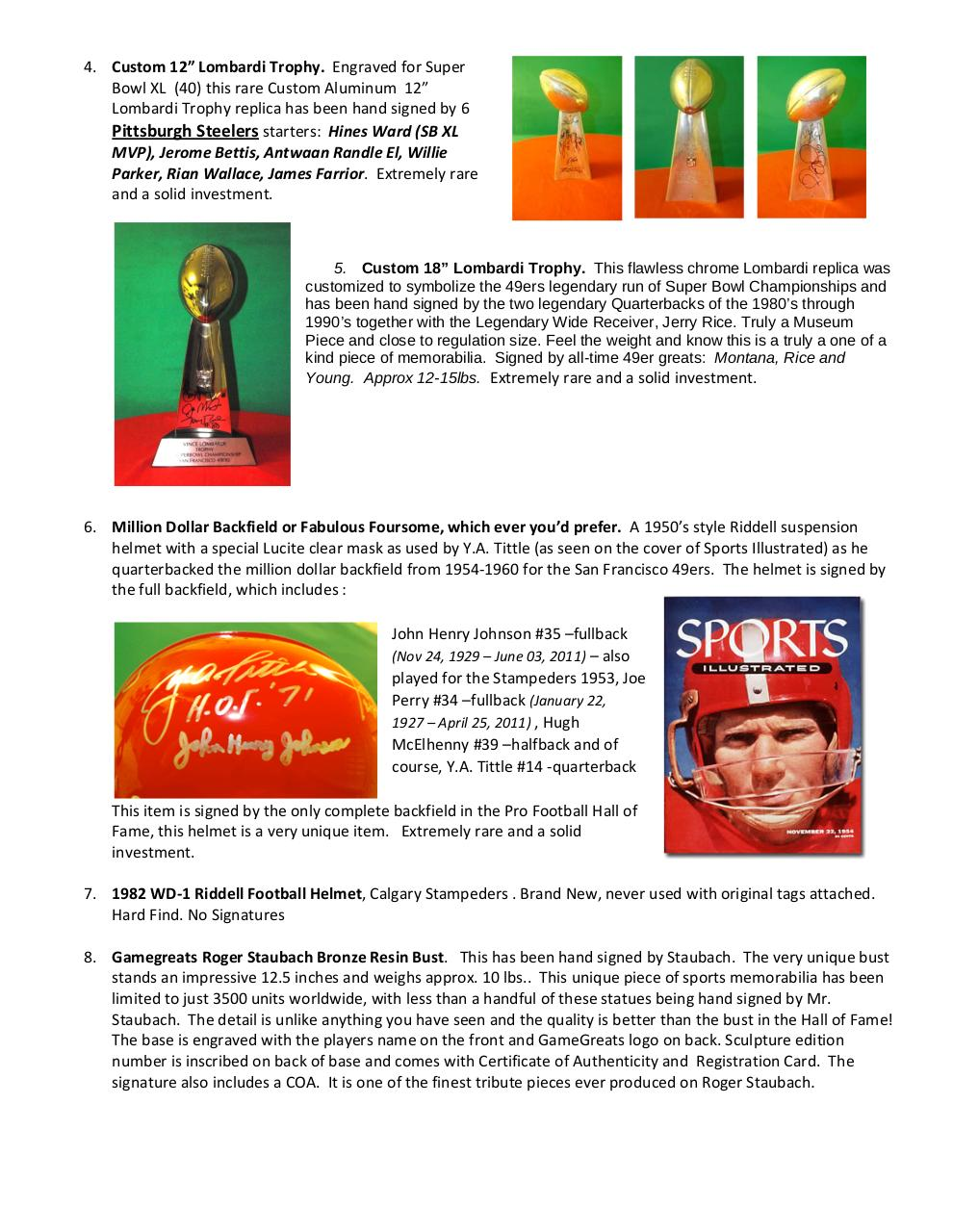Current Memorabilia for sale with pics.pdf - page 2/8