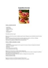 cupcakes a la rose