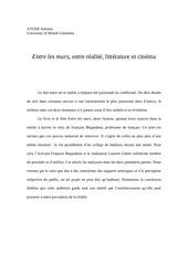 Fichier PDF entre les murs entre realite litterature et cinema 1