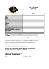 Fichier PDF fiche inscription mudracing