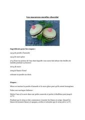 Fichier PDF macarons menthe chocolat