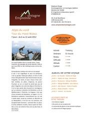 tour du mont blanc du 6 au 12 aout 2012