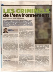 les criminels de l environnements
