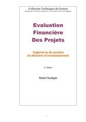 Fichier PDF evaluation financiere des projets