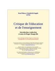 critique enseignement 1