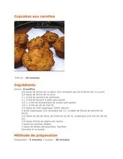 cupcakes aux carottes